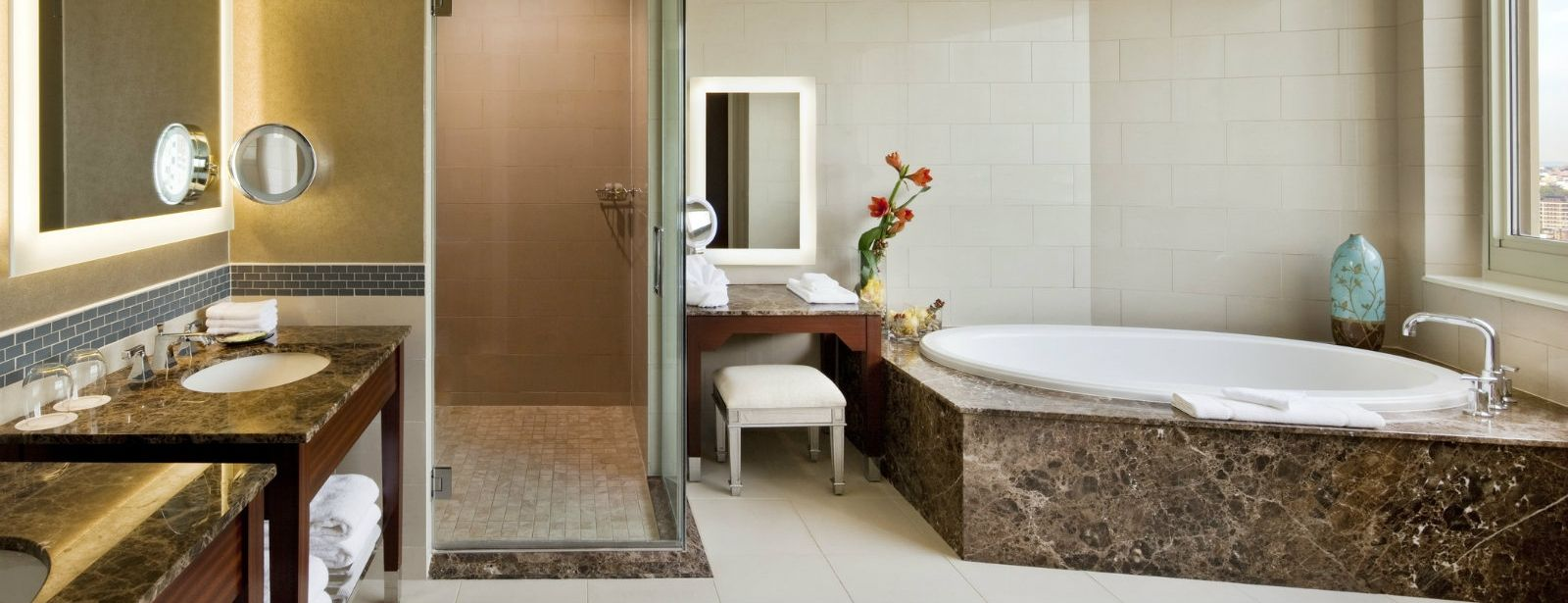 The Westin Jersey City Newport | Presidential Suite Bathroom