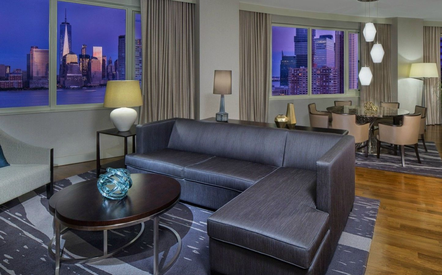 The Westin Jersey City Newport | Presidential Suite Living Room
